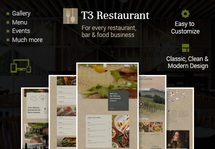 T3 Restaurant | Dining TYPO3 Template